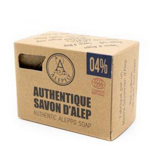 Aleppo-Seife Authentic Ecocert - 4% Lorbeeröl - 200 Gramm