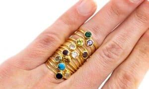 Geburtsstein Ring