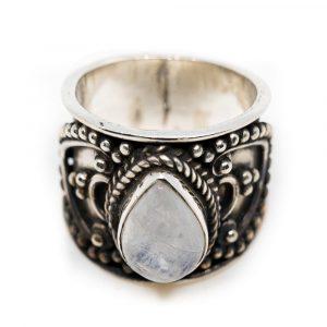 """Edelstein-Ring Mondstein 925 Silber """"Verzera"""" (Größe 17)"""