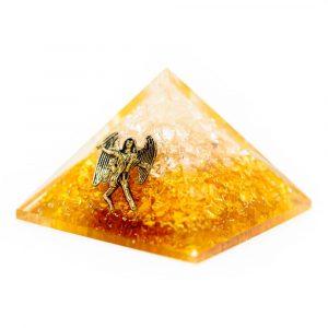 Orgonit-Pyramide - Citrin mit Engel (40 mm)