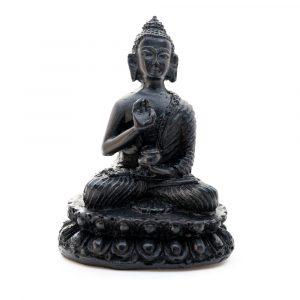 Buddha-Stein - Schwarz - Lehre (10 cm)