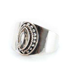 """Edelstein-Ring Citrin 925 Silber """"Esahni"""" (Größe 17)"""