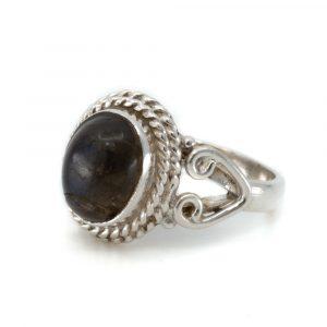 """Edelstein-Ring Labradorit 925 Silber """"Dashah"""" (Größe 17)"""