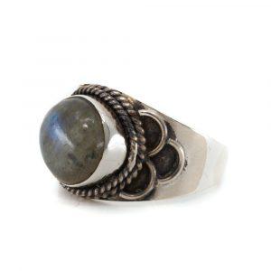 """Edelstein-Ring Labradorit 925 Silber """"Jisha"""" (Größe 17)"""
