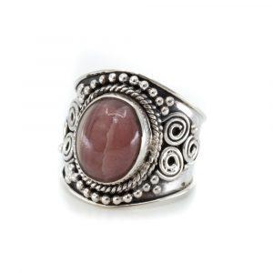"""Edelstein-Ring Rhodochrosit 925 Silber """"Jesahna"""" (Größe 17)"""