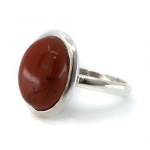 """Edelstein-Ring roter Jaspis 925 Silber """"Vaiha"""" (Größe 17)"""