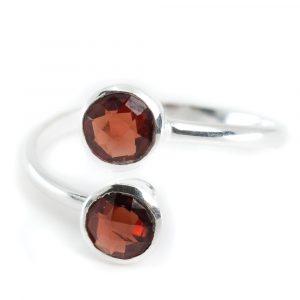 Geburtsstein Ring Granat Januar - 925 Silber