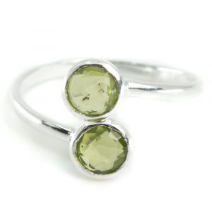 Geburtsstein Ring Peridot August - 925 Silber