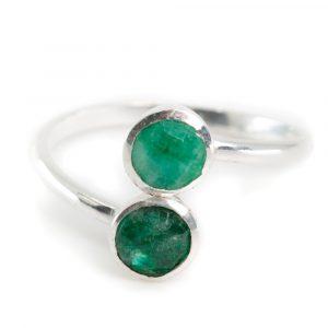 Geburtsstein Ring Smaragd Mai - 925 Silber