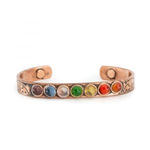 "Kupfer-Magnet-Armband ""7 Chakren"""