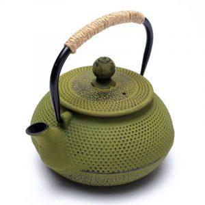 Tetsubin gusseiserne Teekann grün in japan. Stil (600 ml)