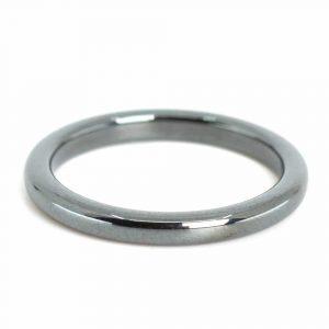 Edelsteine Ring Hämatit (3 mm - Größe 17)