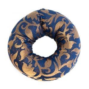 Klangschalen-Kissenring Blau (10 x 3 cm)