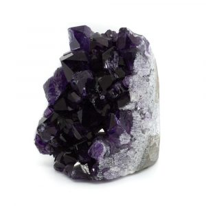 Raue dunkle Amethyst-Edelstein-Geode stehend 50 - 80 mm