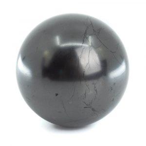 Schungit Edelsteinkugel poliert (60 mm)