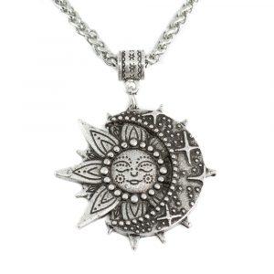 Talisman Solar & Celestial Halskette Silberfarben (35 mm)