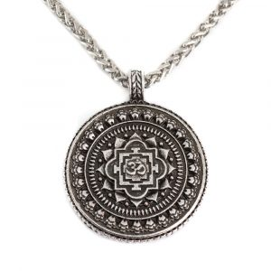 Tibetischer Talisman OHM Rund - Silber (35 mm)