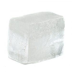 Roher weißer Calcit Edelsteinblock 4 - 6 cm