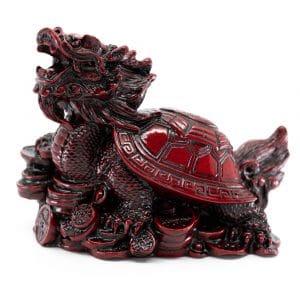 Statue Feng Shui Drache Schildkröte für Reichtum (100 mm)